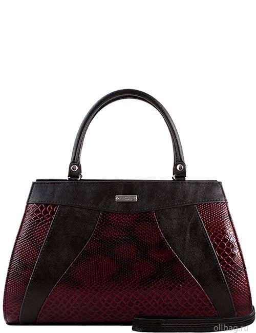 Женская сумка 1272-4 экокожа змея бордовая