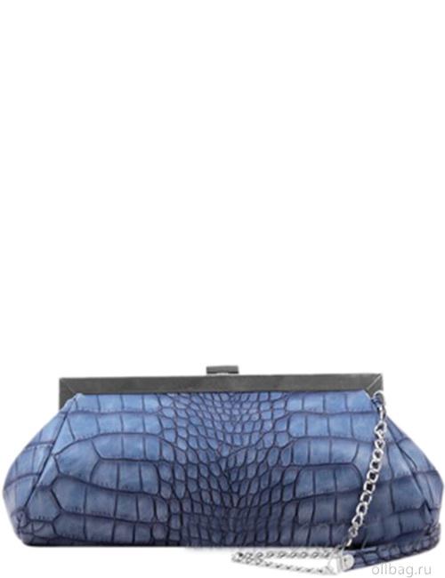 Женская сумка 1320-5 клатч экокожа крокодил светло-синяя