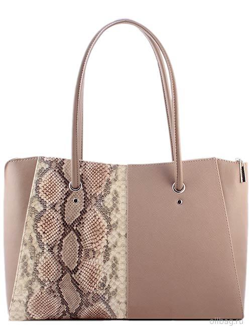 Женская сумка 1256-1 темно-бежевая