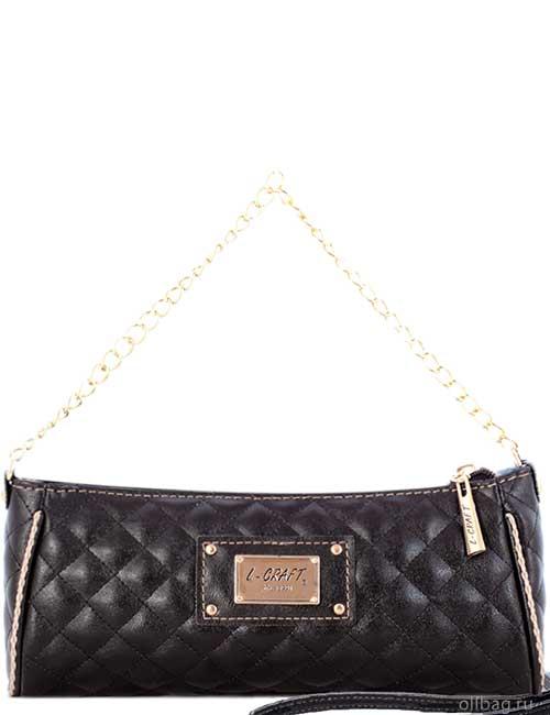 Женская сумка 1327-4 экокожа стеганая черная