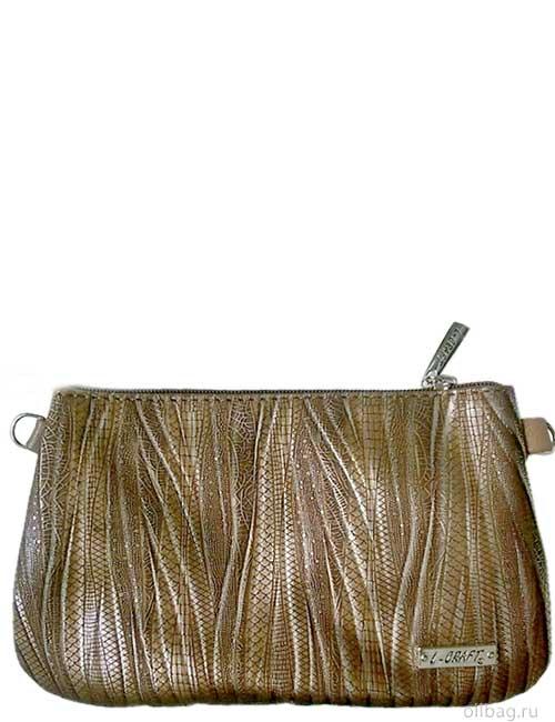 Женская сумка 806-2 экокожа змея золотистая