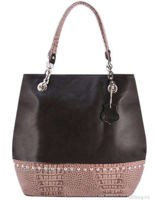 Женская сумка L46-2 темно-коричневая