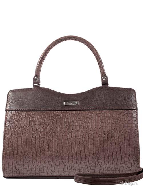 Женская сумка 1264-2 экокожа крокодил коричневая