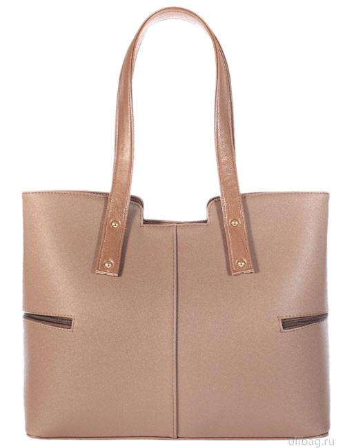 Женская сумка 1317-1 темно-бежевая сзади