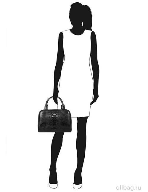 Женская сумка 990-1 экокожа крокодил черная манекен