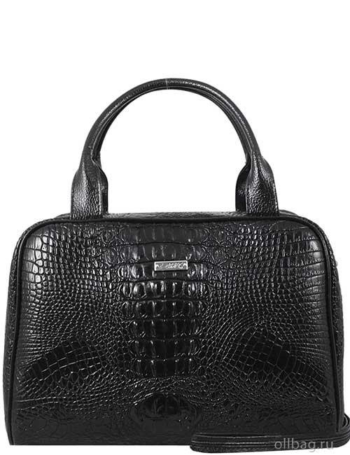 Женская сумка 990-1 экокожа крокодил черная