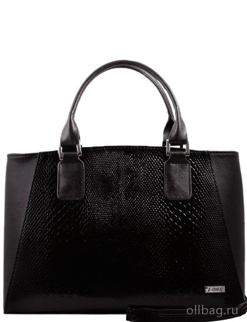 Женская сумка экокожа змея 1214-030 черная