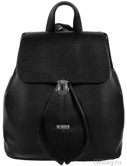 Рюкзак женский 1314-001-1 черный экокожа гладкая