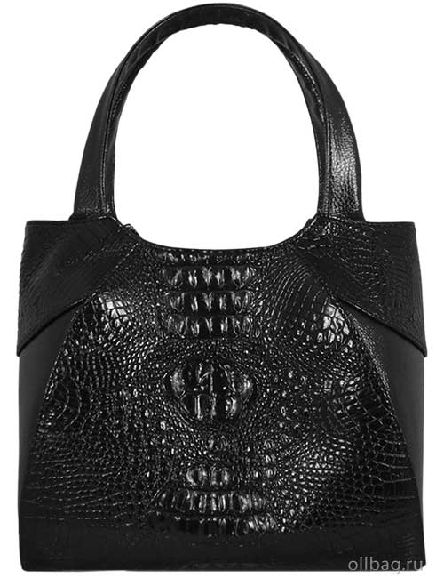 Женская сумка 1204-020 экокожа крокодил черная