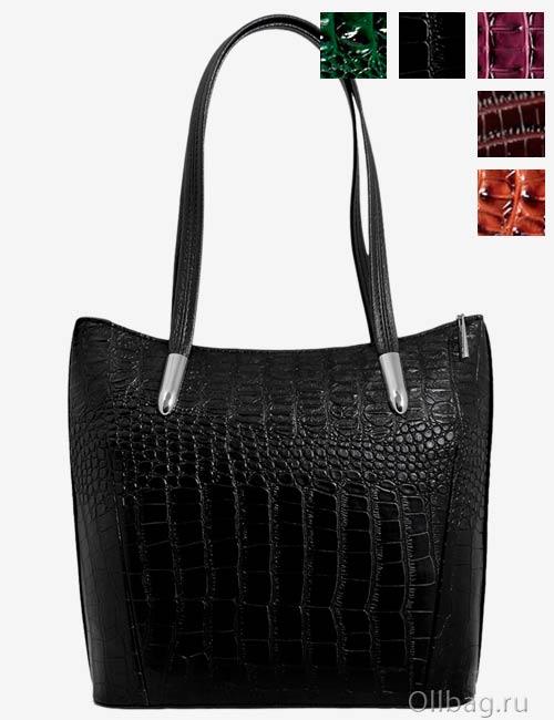 Женская сумка экокожа крокодил 1142-020