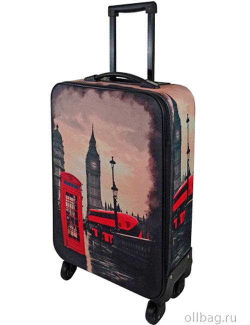 Чемодан тканевый на колесах большой Лондон 1622-24