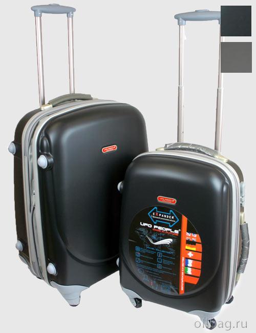Комплект пластиковых ударопрочных чемоданов на колесах zt-92 двойка