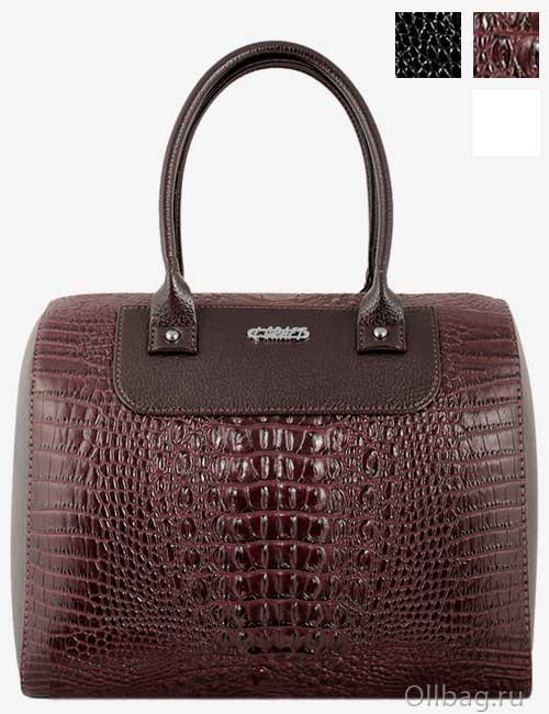 Женская сумка экокожа крокодил 1051-020