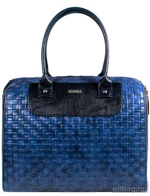 Женская сумка экокожа плетенка 1051-085 синяя