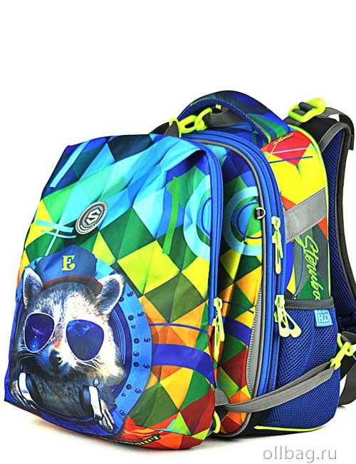 Ранец школьный ортопедический 9101 спинка с рюкзаком для сменной обуви