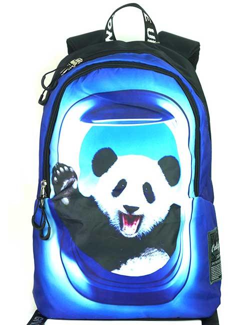 Рюкзак молодежный 8929 панда в иллюминаторе спереди