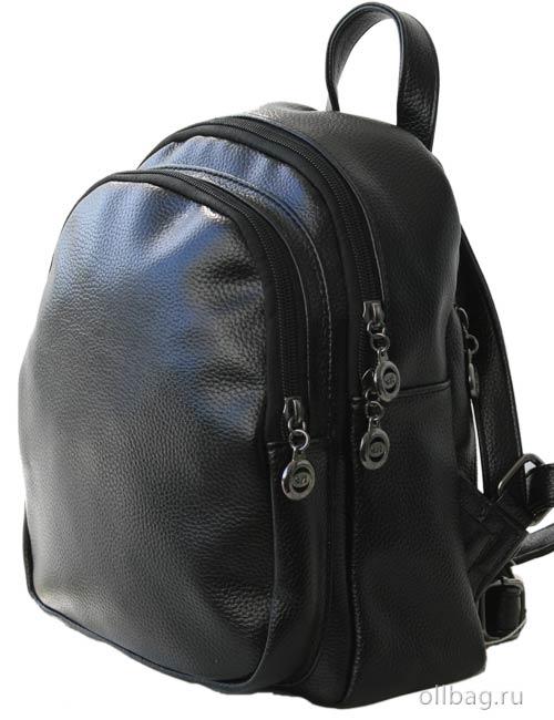 Женский рюкзак 1378 экокожа черный