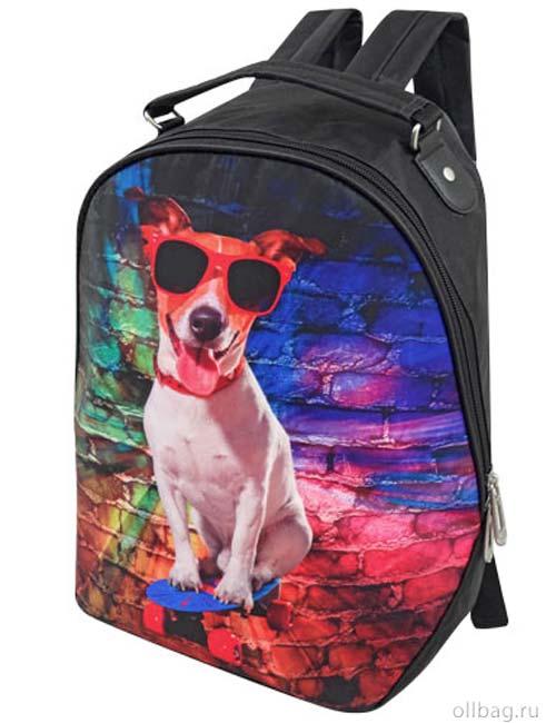 Рюкзак женский 2083-002 собака в очках