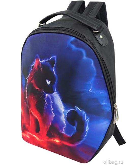 Рюкзак женский 2083-006 принт кот