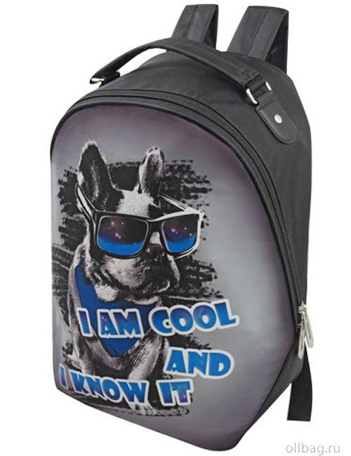 Рюкзак женский 2083-007 принт собака в очках
