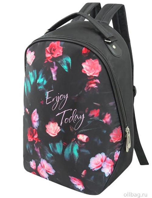 Рюкзак женский 2083-008 принт цветы