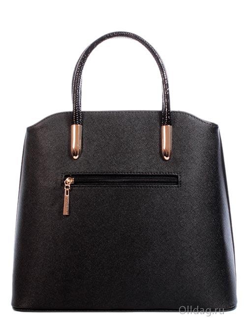 Женская сумка экокожа крокодил 1305-3 черная сзади