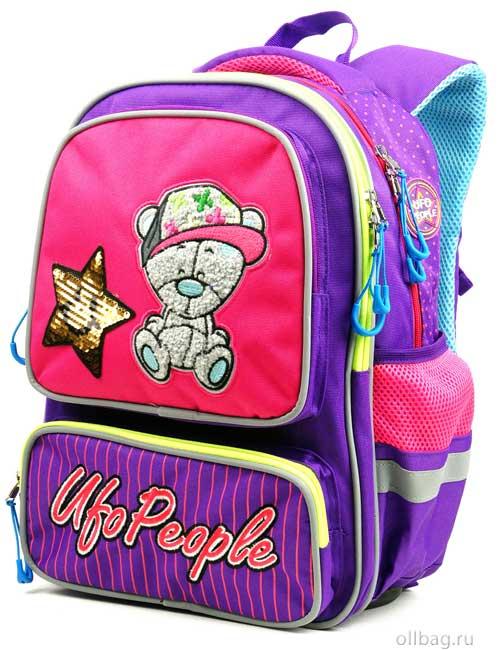 Рюкзак школьный 9201 с мишкой и звездочкой