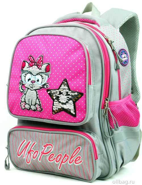 Рюкзак школьный 9203 котенок со звездочкой