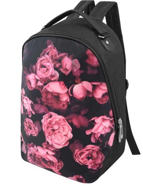 Рюкзак 2803-014 из ткани с принтом цветы