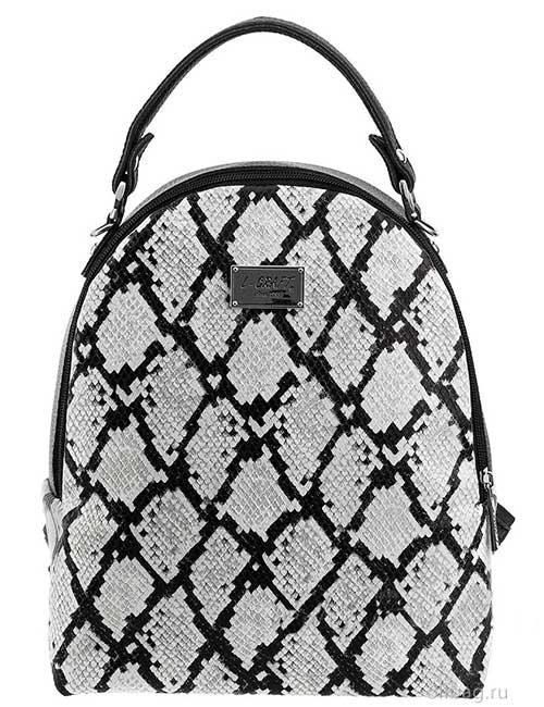 Сумка-рюкзак женская 1388-031-2 экокожа змея серая