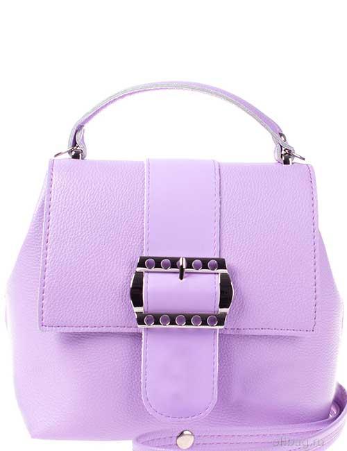 Сумка-рюкзак женская V139-001-17 экокожа гладкая сиреневая