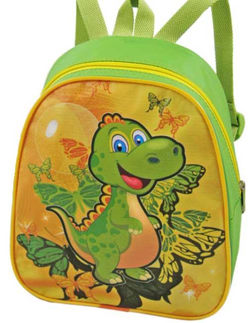 Рюкзак 888-13 детский для девочки зеленый с драконом