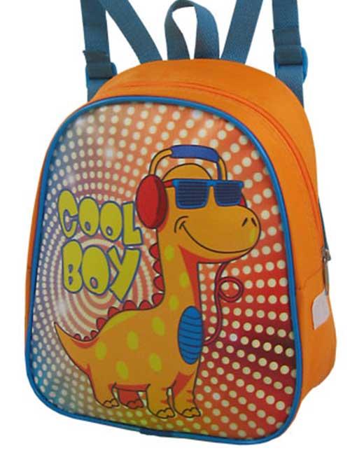 Рюкзак 888-32 детский для мальчика оранжевый с динозавром