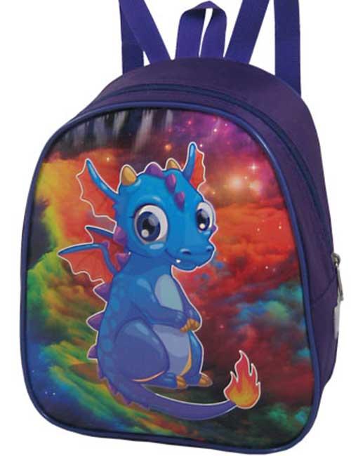 Рюкзак 888-33 детский для мальчика темно-синий с дракончиком