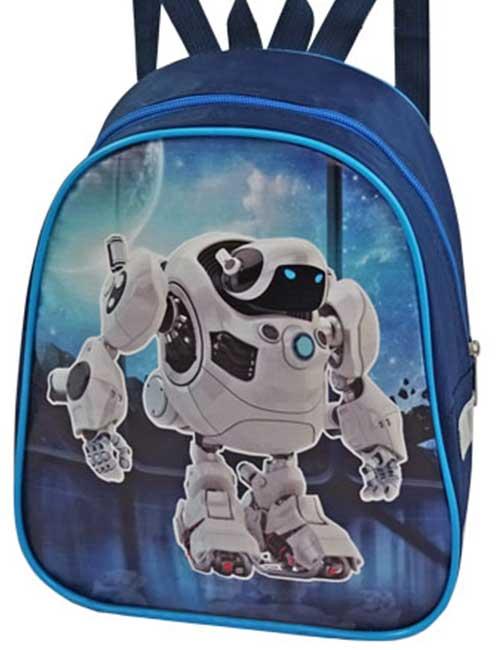 Рюкзак 888-53 детский для мальчика синий с роботом