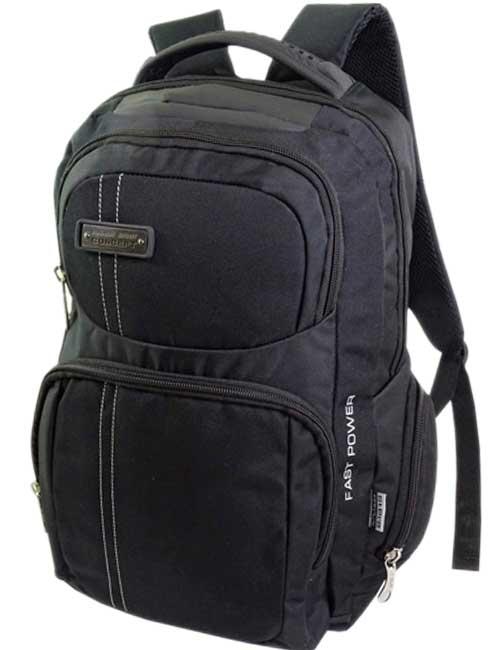 Рюкзак W-16310-D мужской черный с отделением под ноутбук