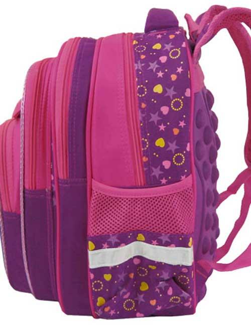 Рюкзак школьный 311432-1 розовый сбоку