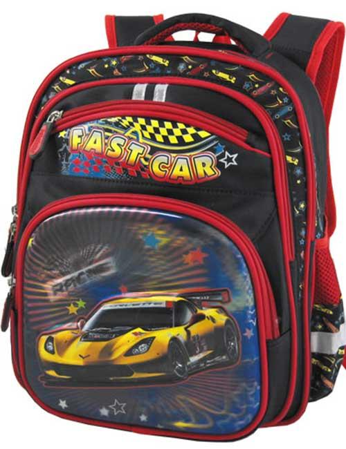 Рюкзак школьный 311453-2 черный с машиной