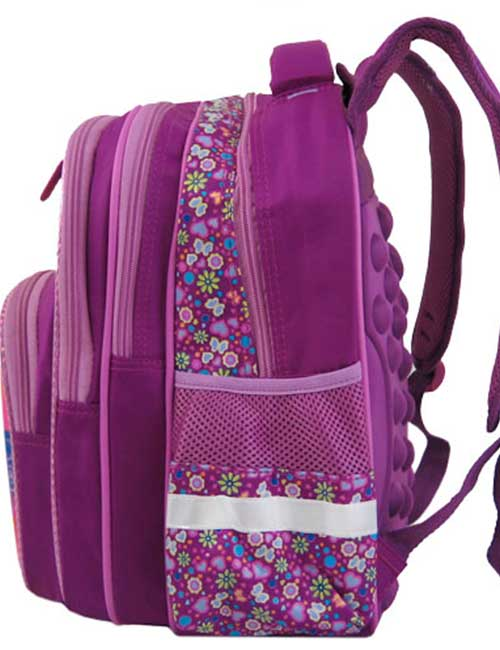 Рюкзак школьный 391483-1 фиолетовый сбоку