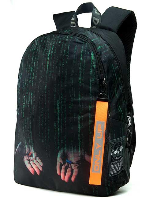 Рюкзак 2090005 Printbag черный с кодом