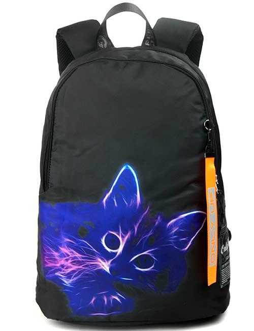 Рюкзак 2090017 Printbag черный с огненным котиком