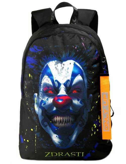 Рюкзак 2090022 Printbag черный страшный клоун