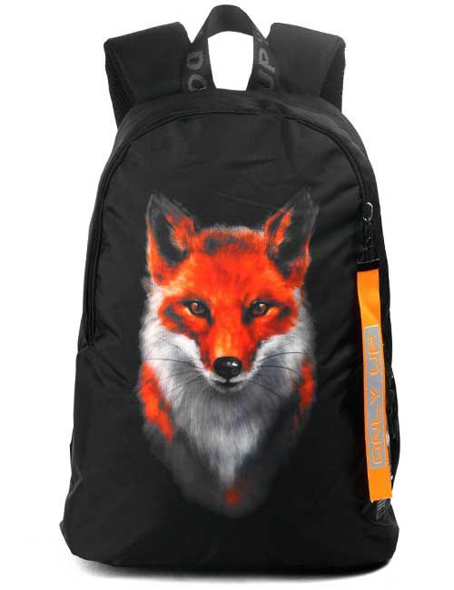Рюкзак 2090026 Printbag черный с лисой