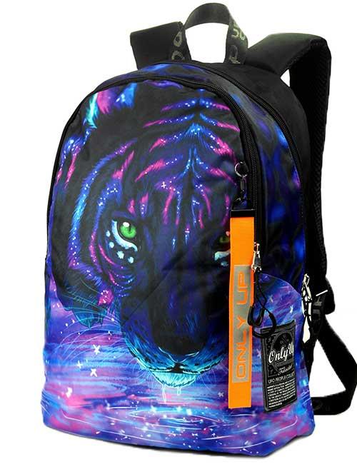 Рюкзак 2090031 Printbag черный с тигром