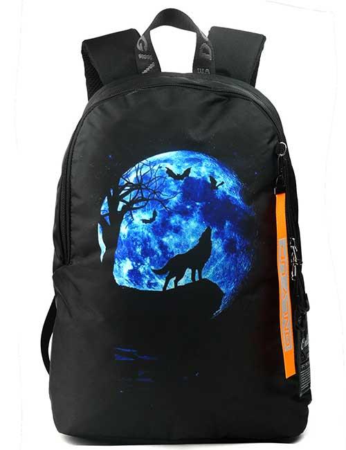 Рюкзак 2090041 Printbag черный с волком