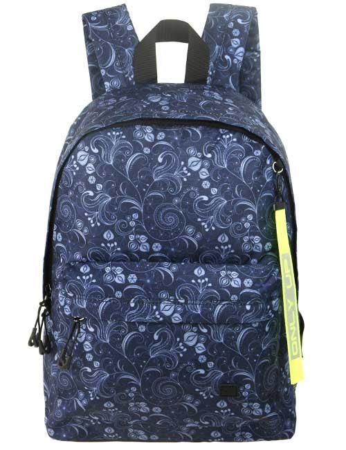 Рюкзак 209514 темно-синий с цветами
