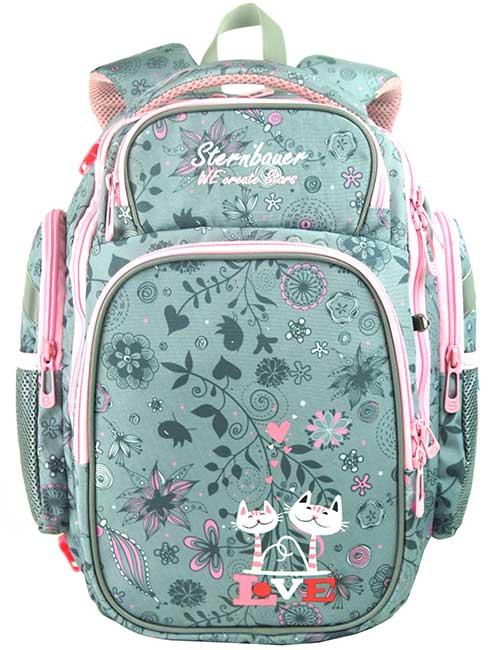 Рюкзак 2361 SB Combi Mini Plus школьный ортопедический для девочки на 5-8 класс с мешком для обуви