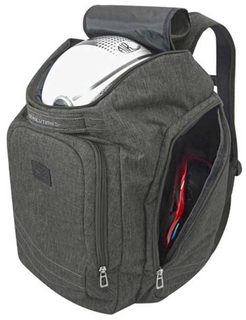 Рюкзак 2800-14 мужской темно-серый спортивный для шлема и ботинок