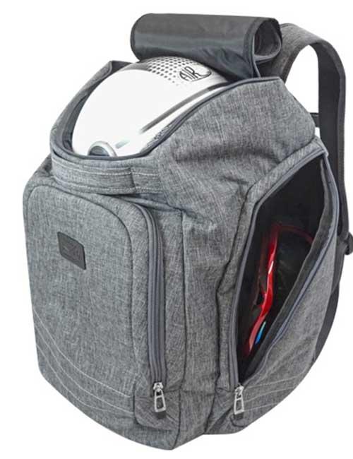 Рюкзак 2800-2 мужской серый спортивный для шлема и ботинок