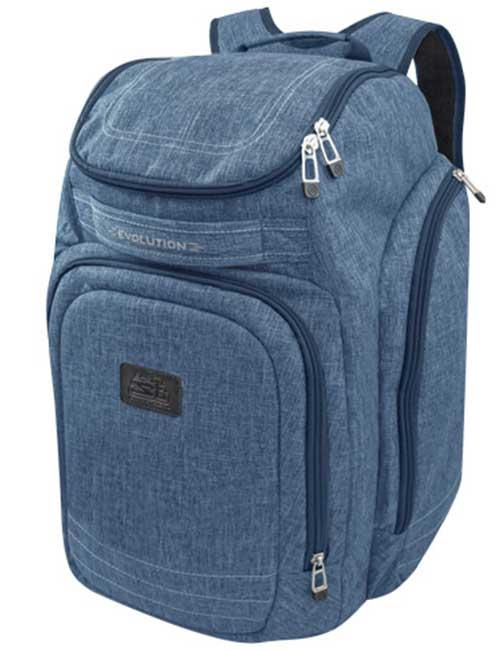 Рюкзак 2800-3 мужской синий спортивный для шлема и ботинок